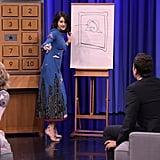 Shailene Woodley in Valentino Dress on Jimmy Fallon