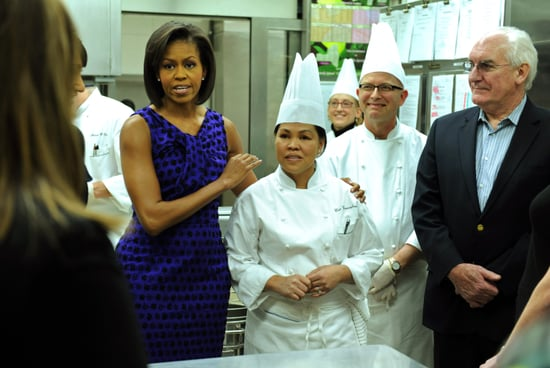 Michelle Obama and Cristeta Comerford Host White House Kitchen Tour