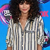 Zendaya Striped Outfit at Teen Choice Awards 2017