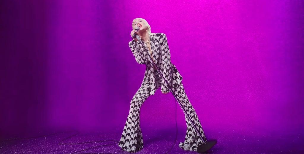 "Miley Cyrus Wearing Richard Quinn in ""Midnight Sky"""