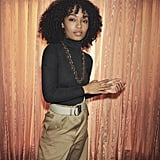 Yara Shahidi Wearing a Chunky Chainlink Necklace