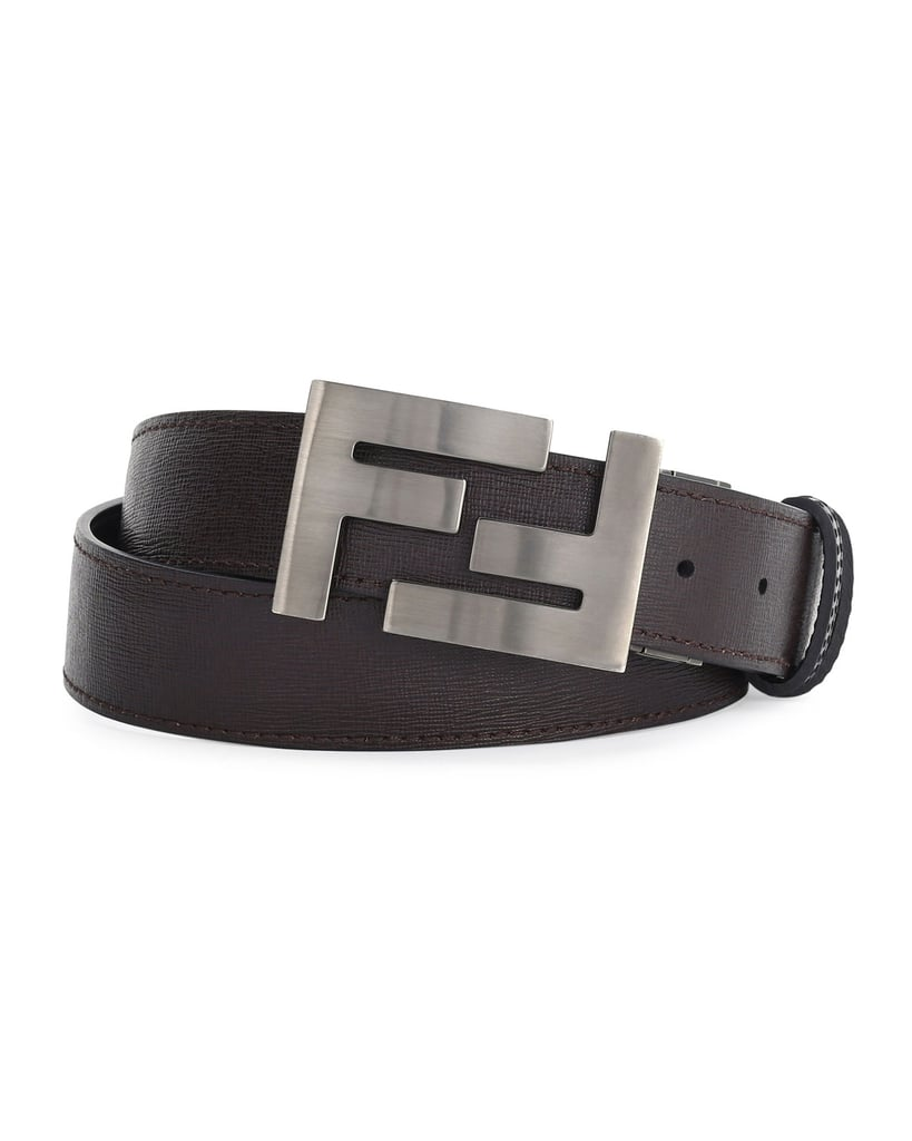 cd0fcc7c6a Fendi Double-F Buckle Textured Leather Belt | Jennifer Aniston Gucci ...