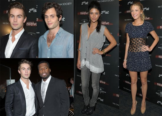 50 Cent, Blake Lively, Chace Crawford, Penn Badgley, Jessica Szohr and Ewan MacGregor at a Screening of Twelve