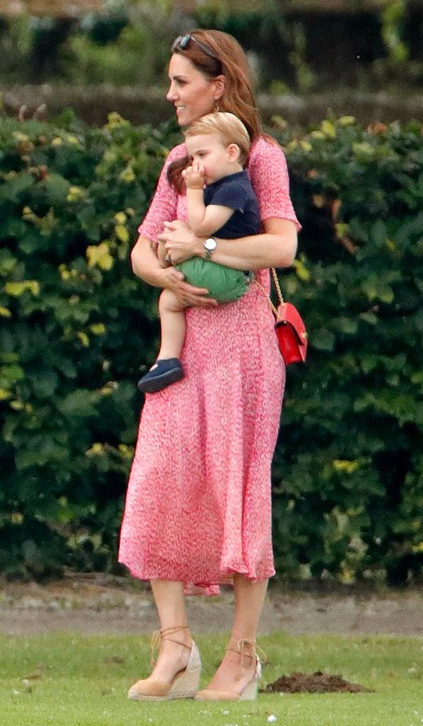 Photos of Kate Middleton Holding Baby Louis