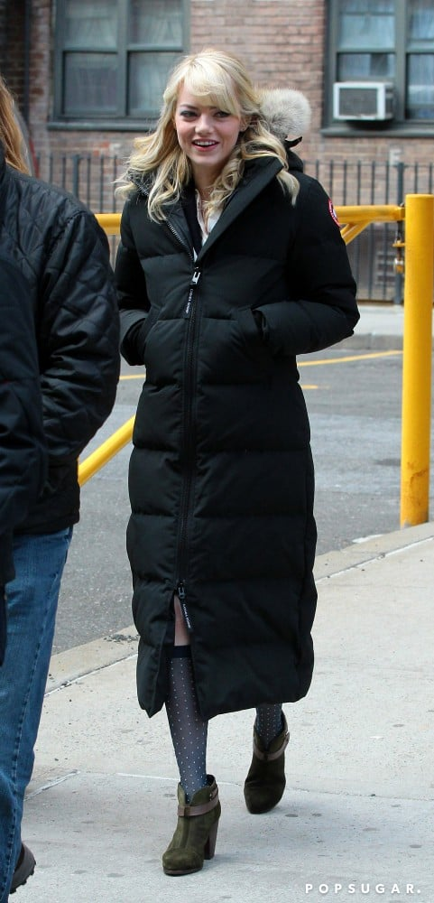 Emma Stone in NYC for The Amazing Spider-Man 2.