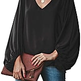 Belongsci V-Neck Blouse Top