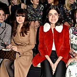 She Sits Front Row With the Rest of the Fashion Pack