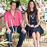 Kate wore her trusty Stuart Weitzman wedges.