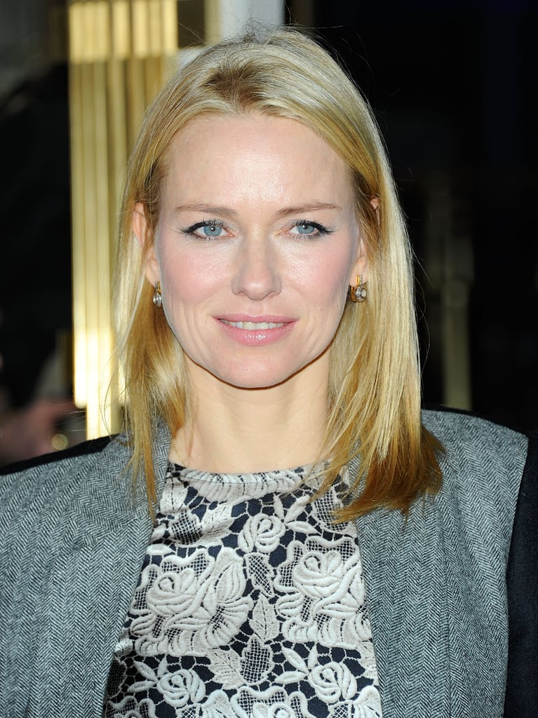 Naomi Watts had pin-straight hair at Stella McCartney's store opening party.