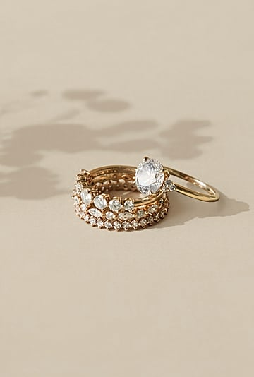 Wedding Bands and Ring Set Stack Ideas