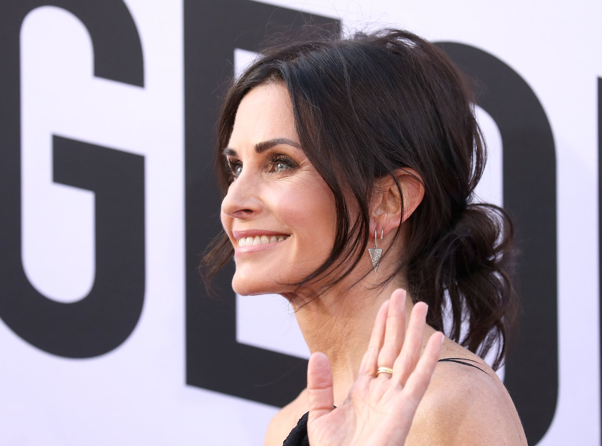 HOLLYWOOD, CA - JUNE 07:  Courteney Cox arrives to the American Film Institute's 46th Life Achievement Award Gala Tribute held on June 7, 2018 in Hollywood, California.  (Photo by Michael Tran/FilmMagic)