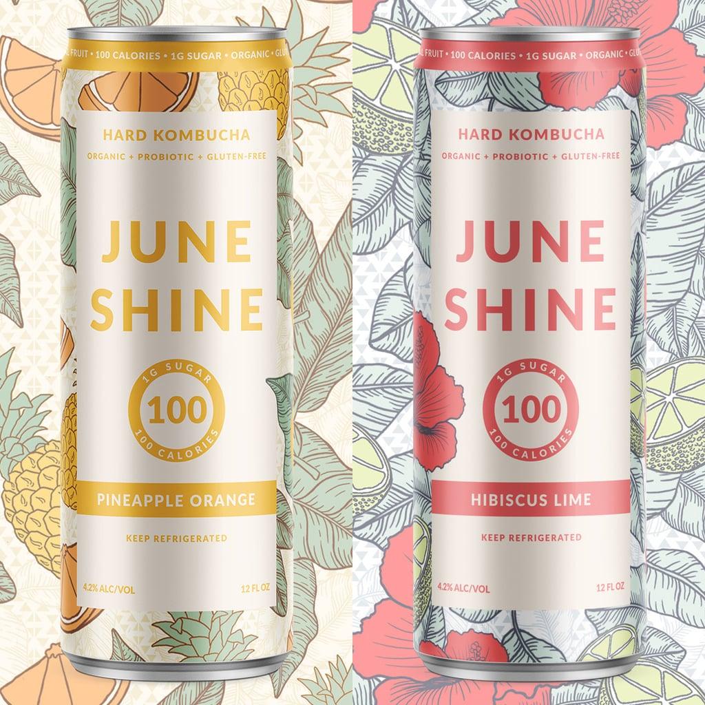 JuneShine Pineapple Orange and Hibiscus Lime Hard Kombucha
