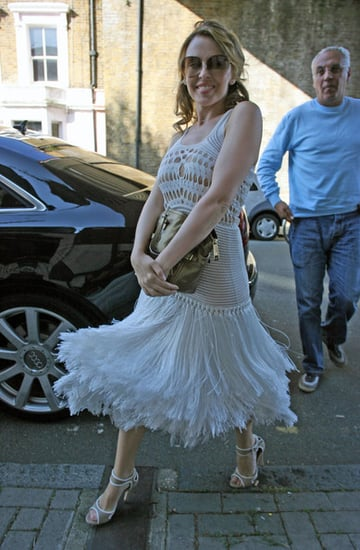 Kylie Minogue outside her house
