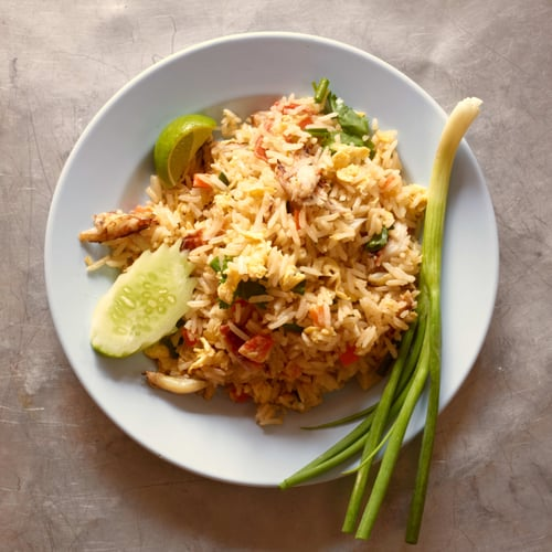 Fast and easy crab fried rice popsugar food crab fried rice ccuart Image collections