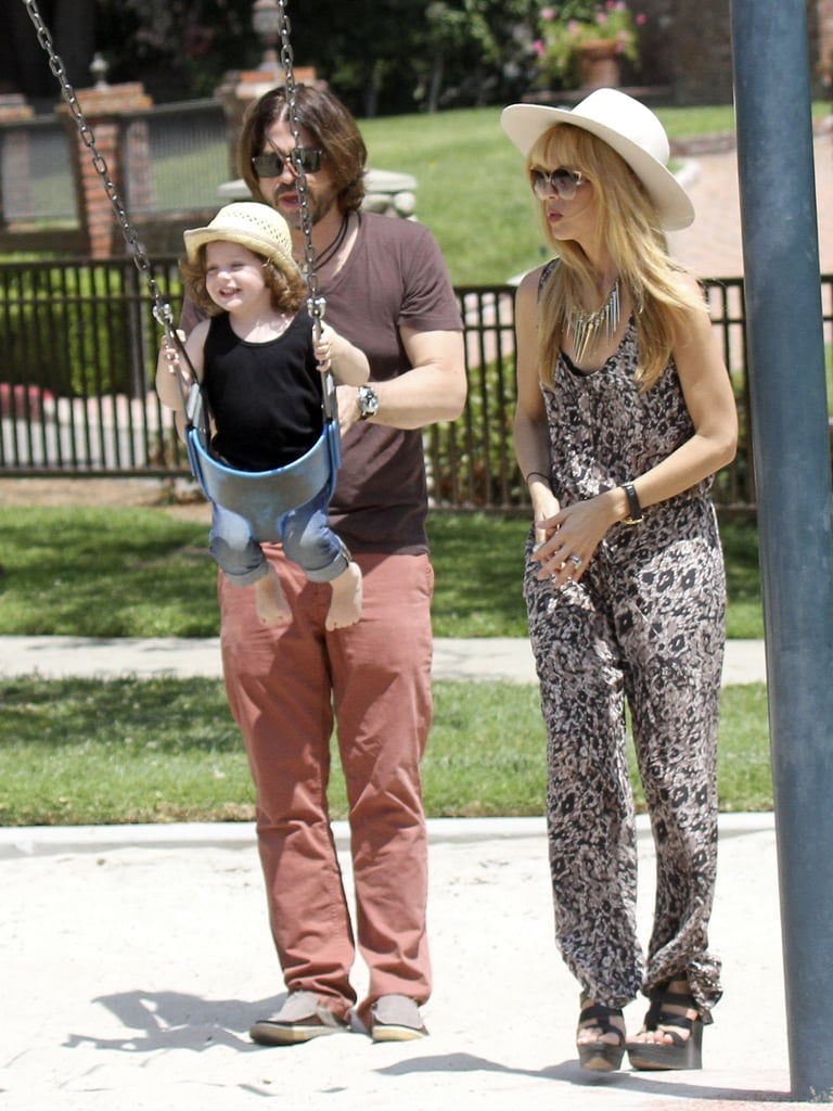 Rachel Zoe and Rodger Berman spent their Sunday with their son Skyler at an LA park.