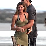 Gisele Bundchen and Tom Brady showed some affection.