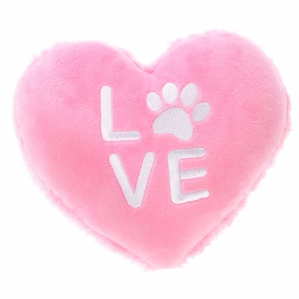 Grreat Choice Valentine S Quot Love Quot Heart Paw Dog Toy 3