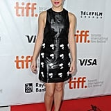 Hailee Steinfeld walked the red carpet at the premiere of The Riot Club.