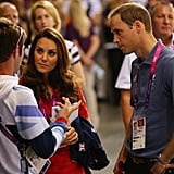 Prince William and Kate Middleton chatted with Great Britain cyclist Mark Cavendish.