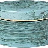 Rivet Mid Century Modern Decorative Marble Jewelry Box