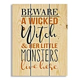 Designs Direct A Wicked Witch Monsters Canvas Wall Art