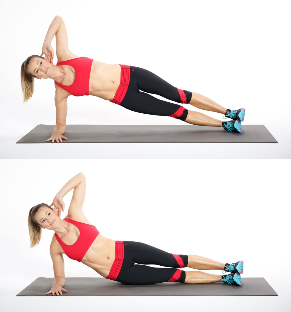 Side Plank With Hip Dip (Right Side)