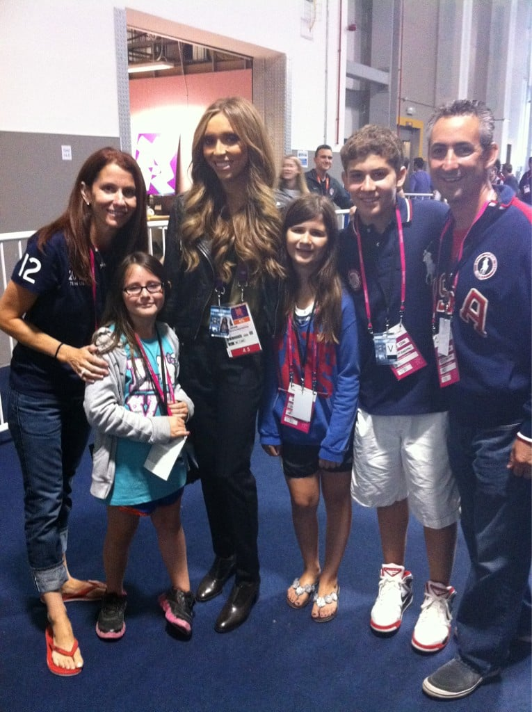 Giuliana Rancic ran into Aly Raisman's family inside Olympic Park. Source: Twitter user GiulianaRancic