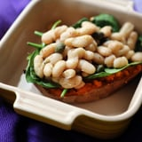 Bean and Spinach Stuffed Sweet Potato