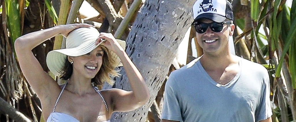 Jessica Alba Wears a White Bikini and a Huge Smile on Spring Break