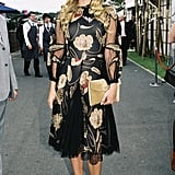 Vintage-inspired with ladylike flair at Victoria Derby Day in Oct. '05.