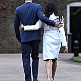 Meghan Markle Engagement Photo Heels From Aquazzura