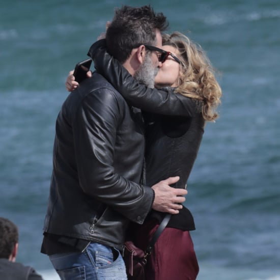 Jeffrey Dean Morgan and Hilarie Burton Kissing in Spain 2017