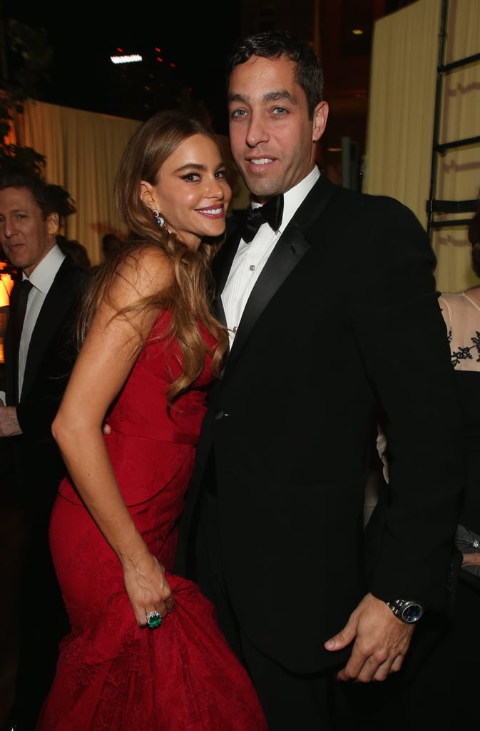 Sofia Vergara kept close to Nick Loeb at the Fox after party.