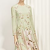 Pippa is wearing the Hepburn Dress in Bloom Print Silk by The Fold