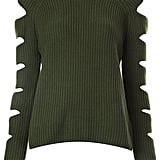 Zoe Jordan cut-out sleeve ribbed jumper ($465)