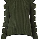 Zoe Jordan cut-out sleeve ribbed jumper ($465)