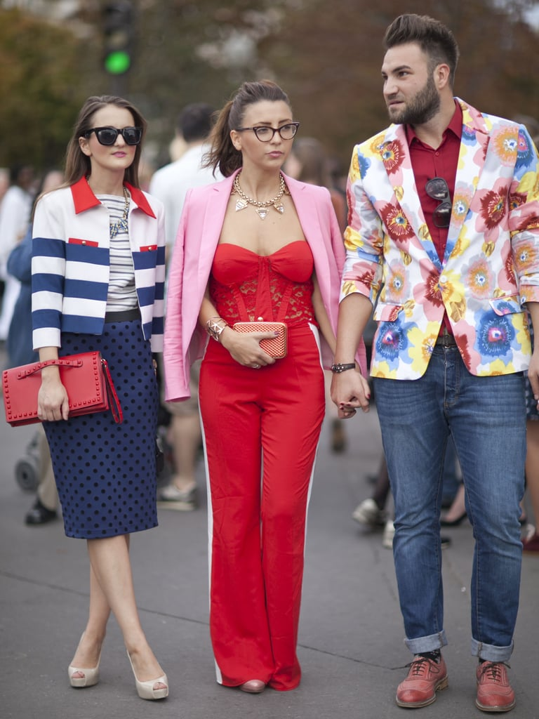 Clearly, this fashion pack subscribes to the same dress code: brights.