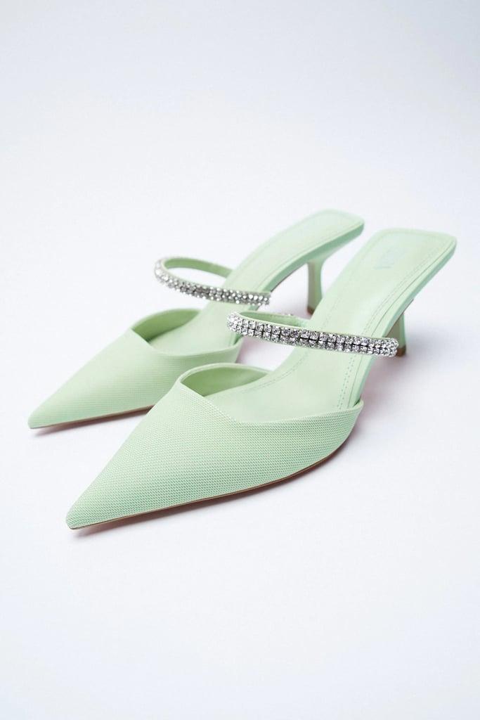 Extra Sparkle: Zara Sparkly Heeled Mules
