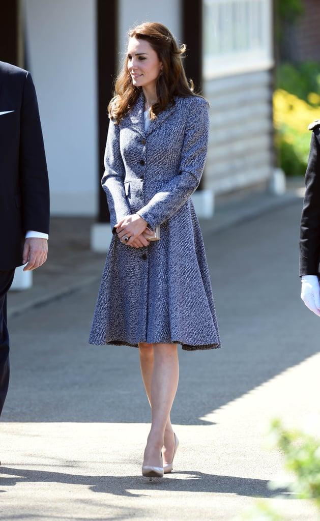 Kate Middleton In Michael Kors Coat May 2016 Popsugar Fashion