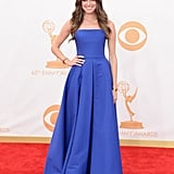 While some stars might get lost in this dress, we think Allison gave it character at the 65th annual Emmy Awards.