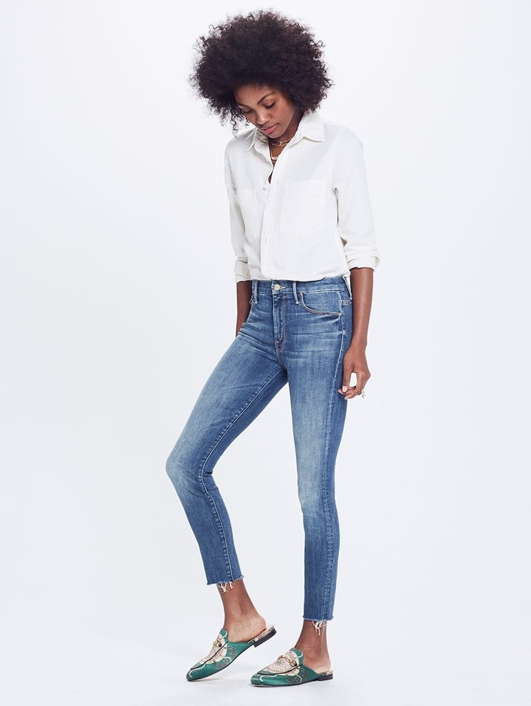 Mother High Waisted Looker Ankle Fray Not Rough Enough