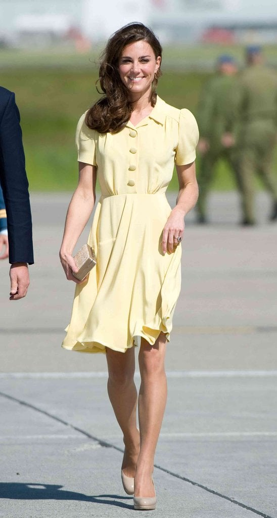 How adorable did she look in this Spring-perfect Jenny Packham sundress?