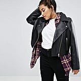 Asos Ultimate Leather Look Biker Jacket