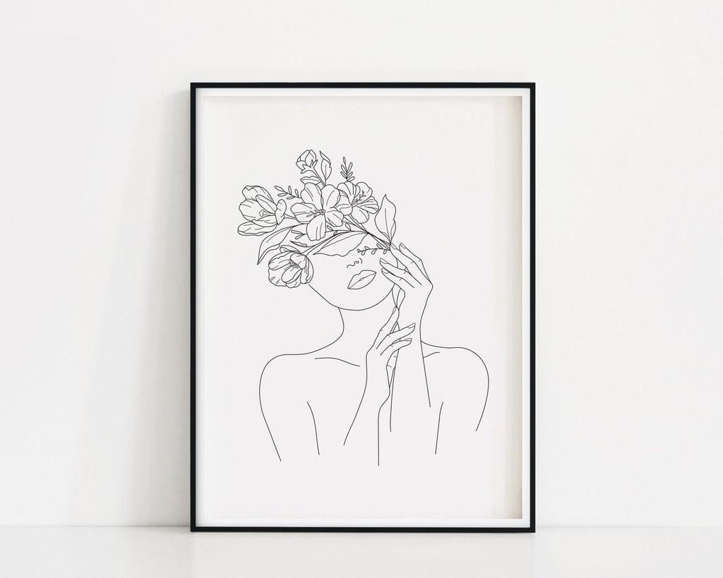 Head of Flowers Art Print