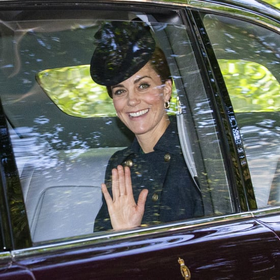 Kate Middleton Wears Navy Coat For Church