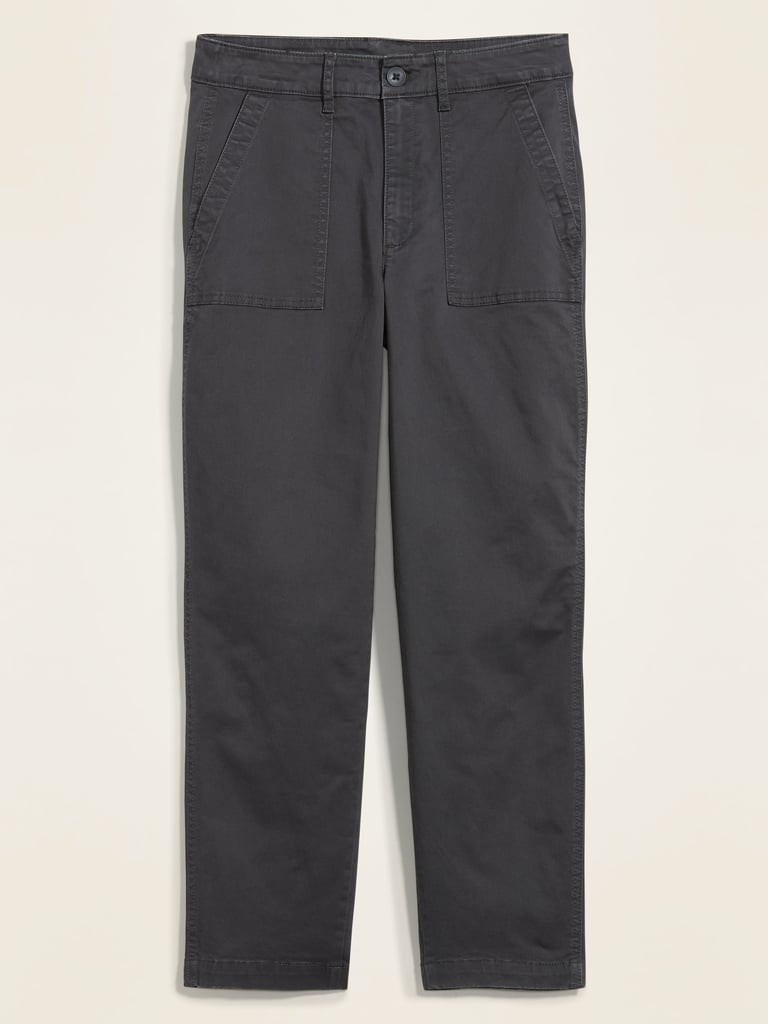 High-Waisted Utility Ankle Chino Pants