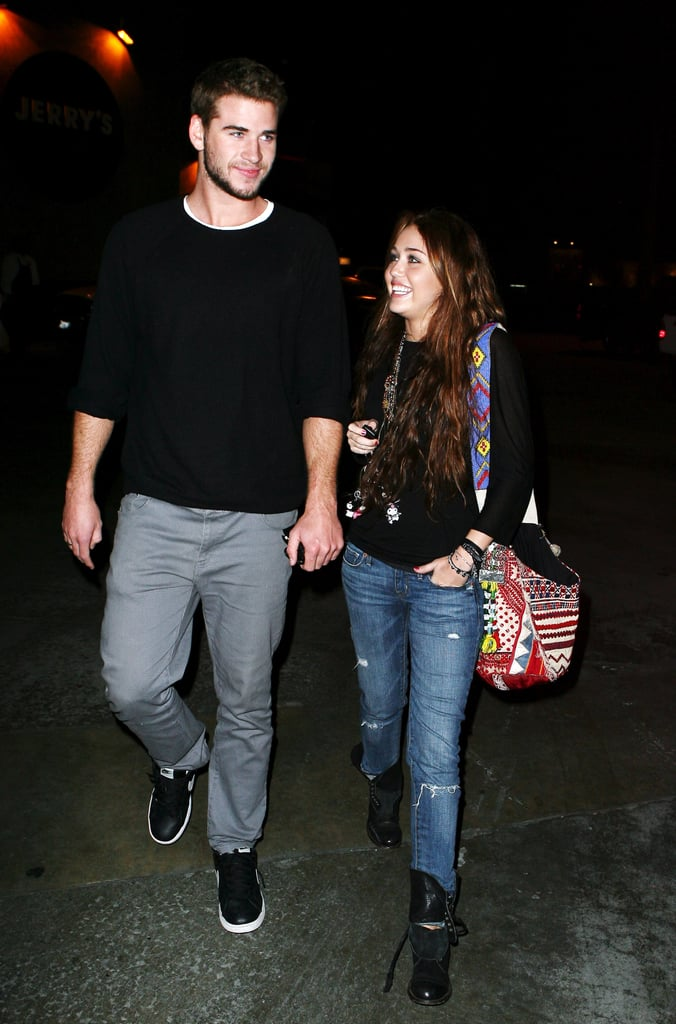Liam Hemsworth and Miley Cyrus stepped out for dinner in LA in February 2010.