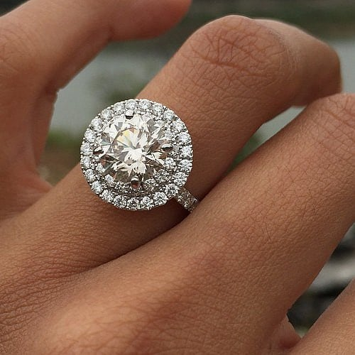 wedding cushion princess cu ring cut big index rings engagement gold set white
