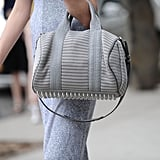 Only Alexander Wang could produce a muted gray bag that still totally makes a statement on the street.