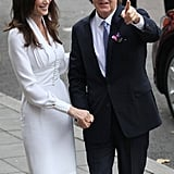 Who better to design Nancy Shevell's dress than Stella McCartney when she tied the knot to Sir Paul in October 2011?